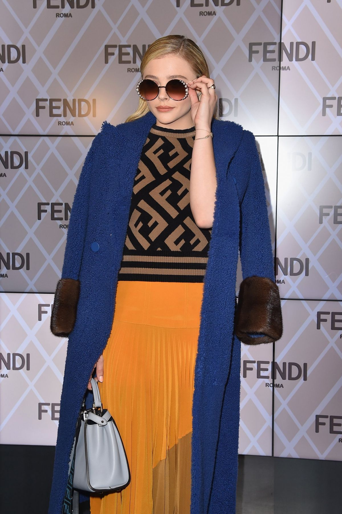 c5f27f75ce Chloe Grace Moretz At the Fendi Winter/Fall 2018-19 Fashion Show in Milan