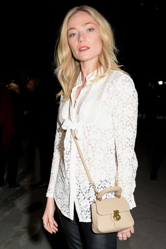 Clara Paget At Burberry Show Front Row London Fashion
