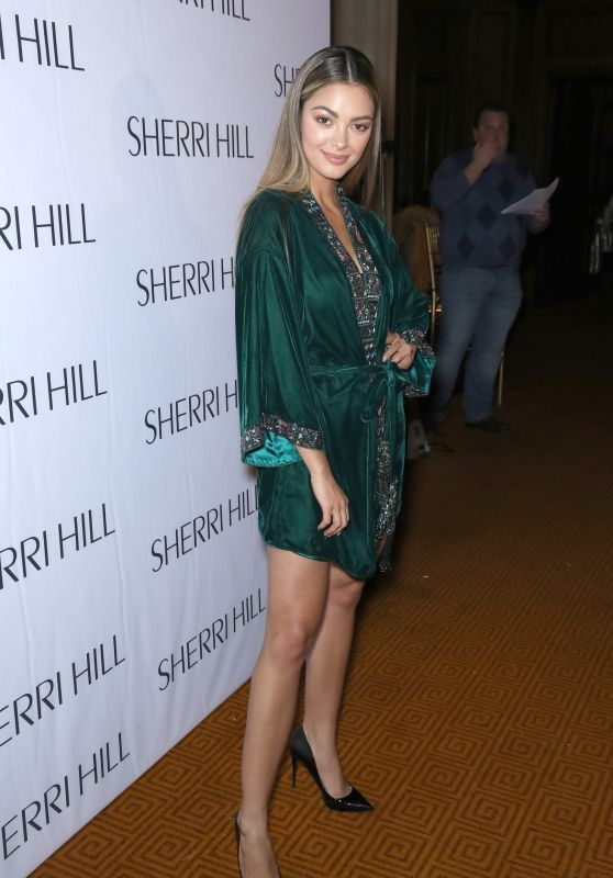 Demi-Leigh Nel-Peters At Sherri Hill NYFW FW 2018