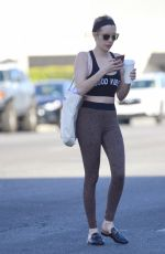 Emma Roberts Leaves a dance class in LA