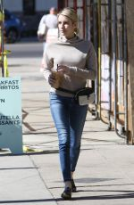 Emma Roberts Stops at Alfred Coffee & to grab some fuel while out and about in Los Angeles