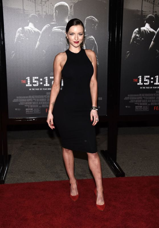 """Francesca Eastwood At premiere of """"The 15:17 To Paris"""" in Burbank"""