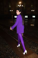 Gilda Ambrosio Arrive at Versace Fashion Show during Milan Fashion Week in Milan