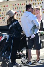 Haylie Duff Spotted at the Farmers Market in Studio City with her family