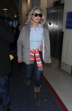 Heather Thomas Departs LAX Airport in Los Angeles