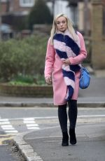 Helen George Pictured strolling through a grey cold London