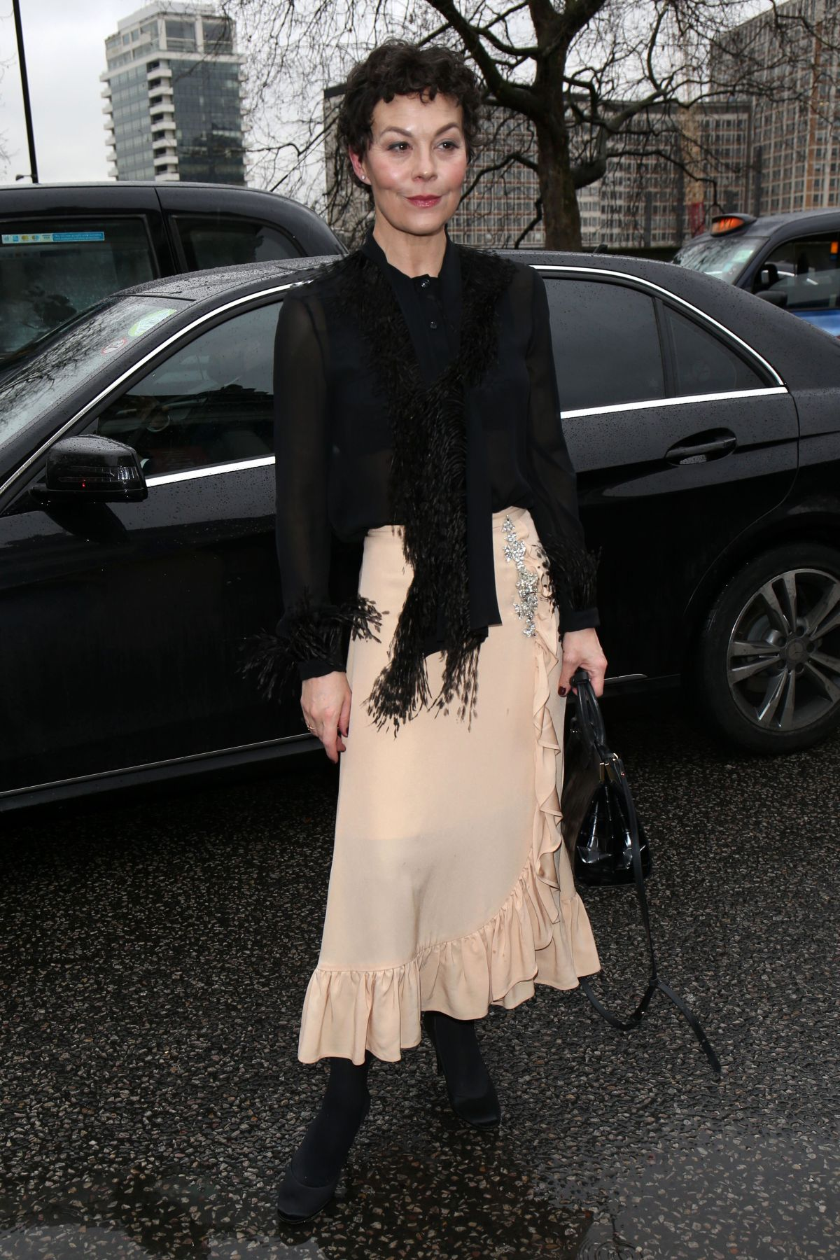 Helen Mccrory At Christopher Kane Show Arrivals Fall Winter 2018 London Fashion Week Uk