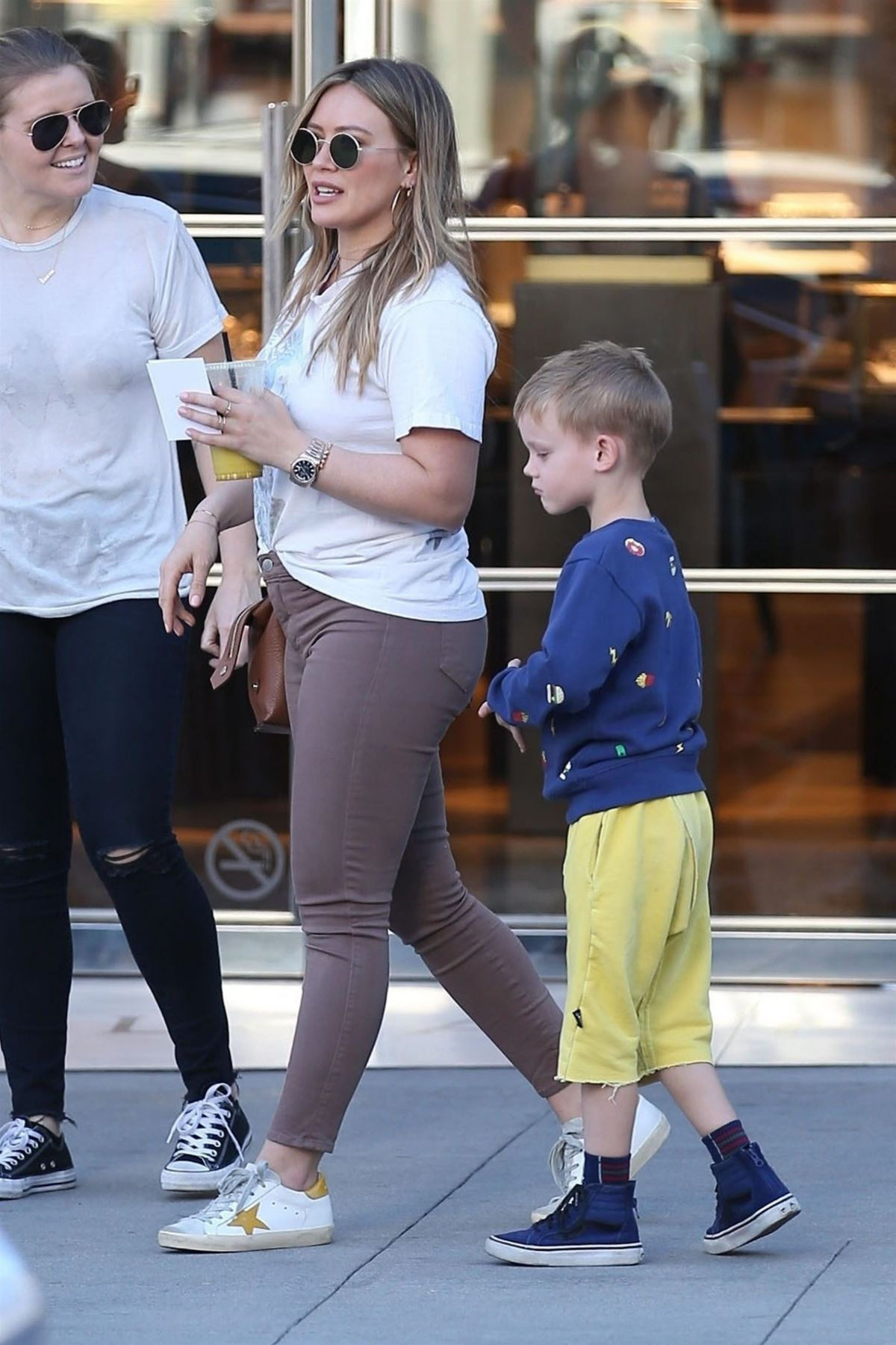 Hilary Duff And Son Luca Comrie Are Spotted Out Ping With Friends In Beverly Hills