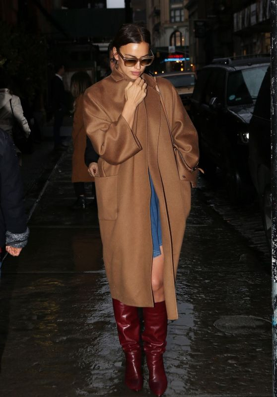 Irina Shayk Spotted leaving her hotel in NYC