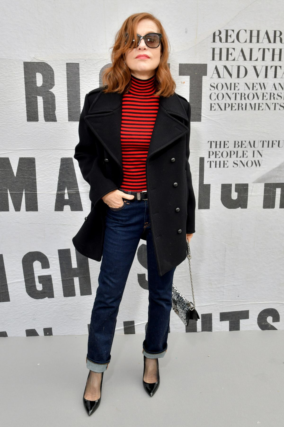 Isabelle Huppert At Christian Dior Show Front Row Fall Winter 2018 Paris Fashion Week