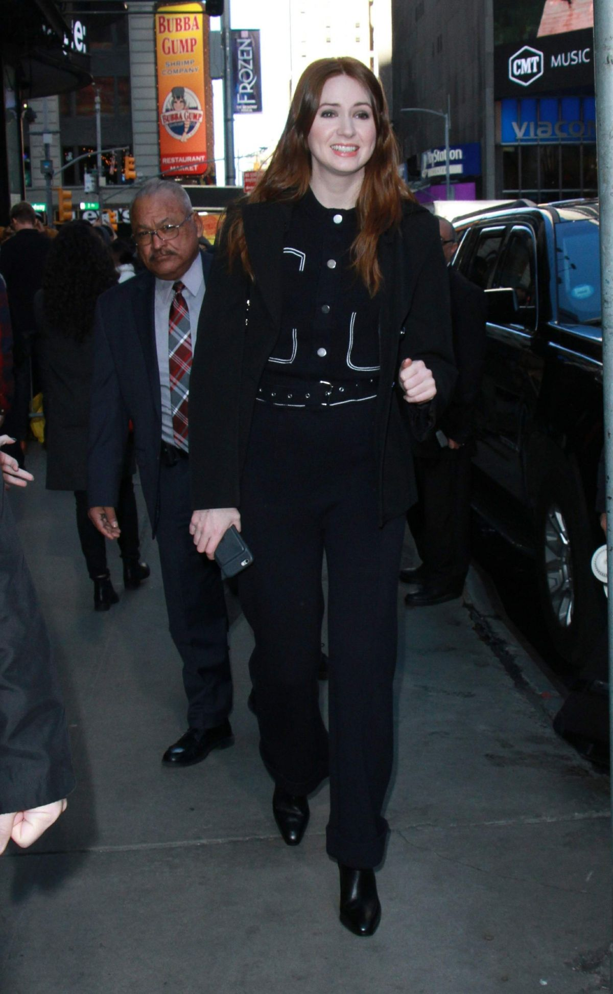 Good Morning America Los Angeles : Karen gillan arrives at quot good morning america in new york