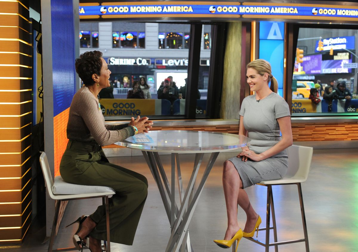 Good Morning America Nyc : Kate upton appears on good morning america in new york