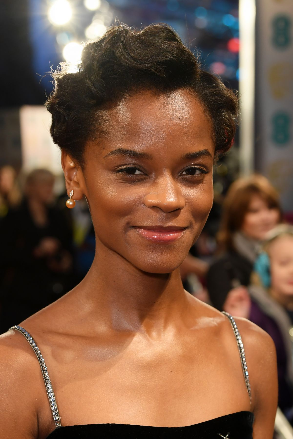 letitia wright at 71st british academy film awards royal