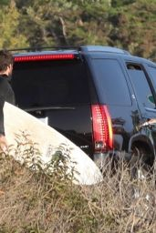 Miley Cyrus & Liam Hemsworth Leave the beach in Malibu