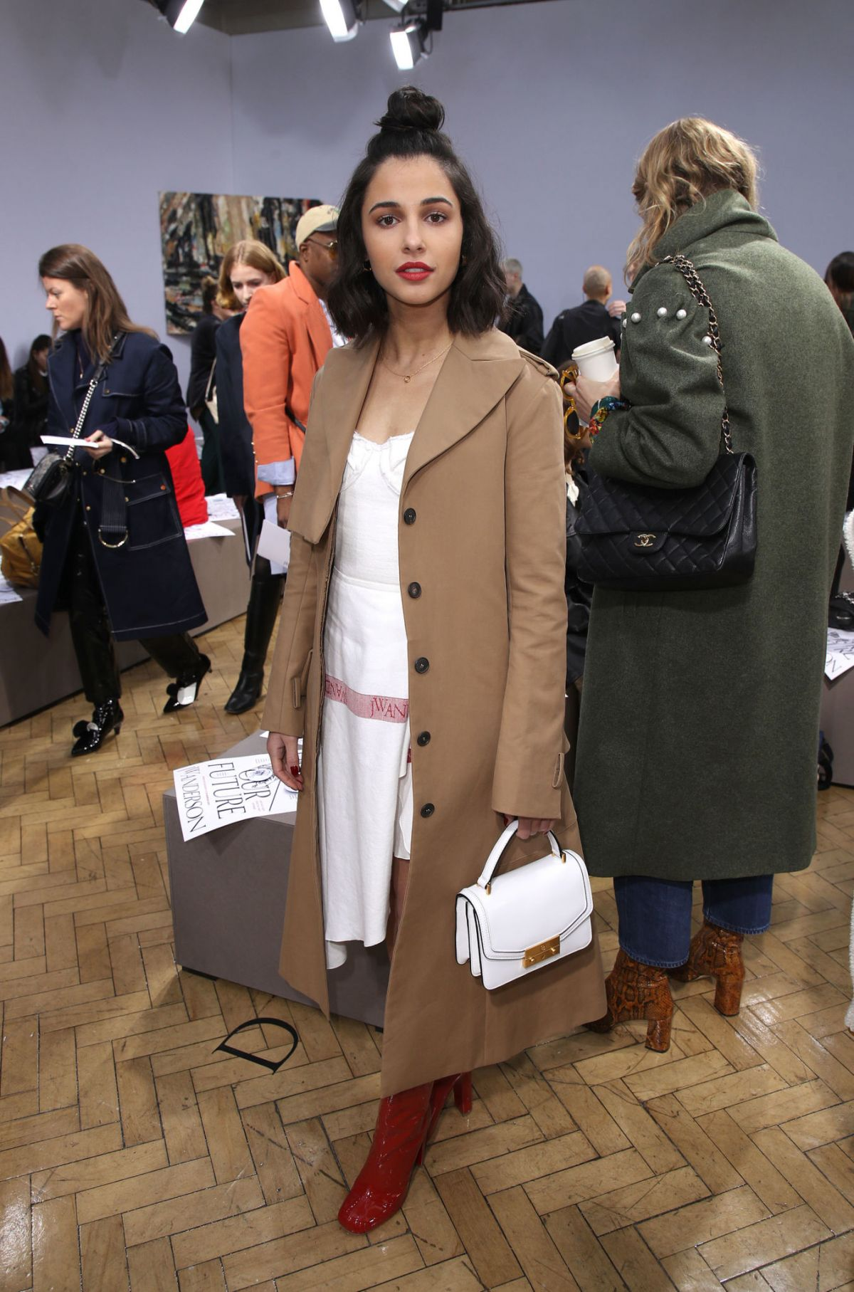 Naomi Scott Attends the JW Anderson show during London ... Naomi Watts