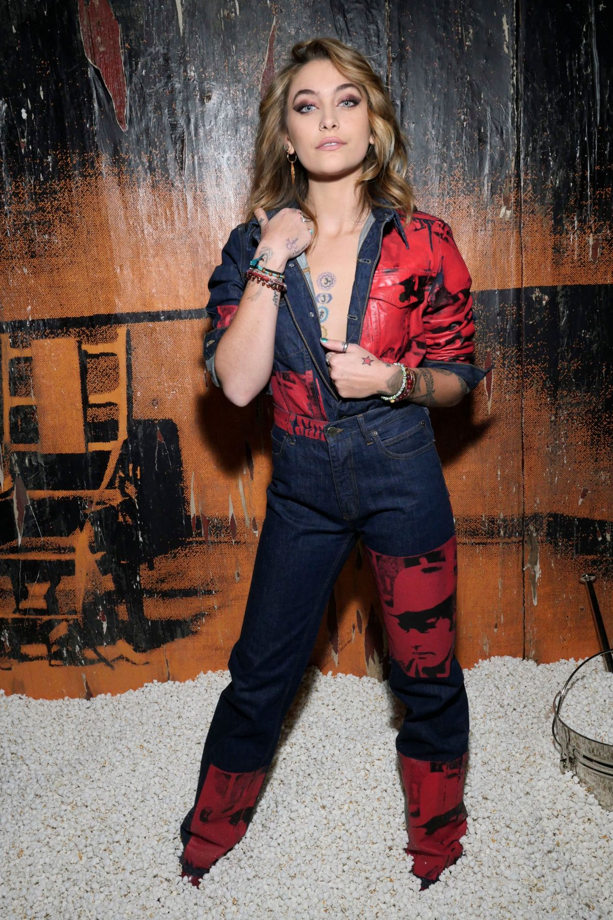 paris jackson at the calvin klein collection front row during new