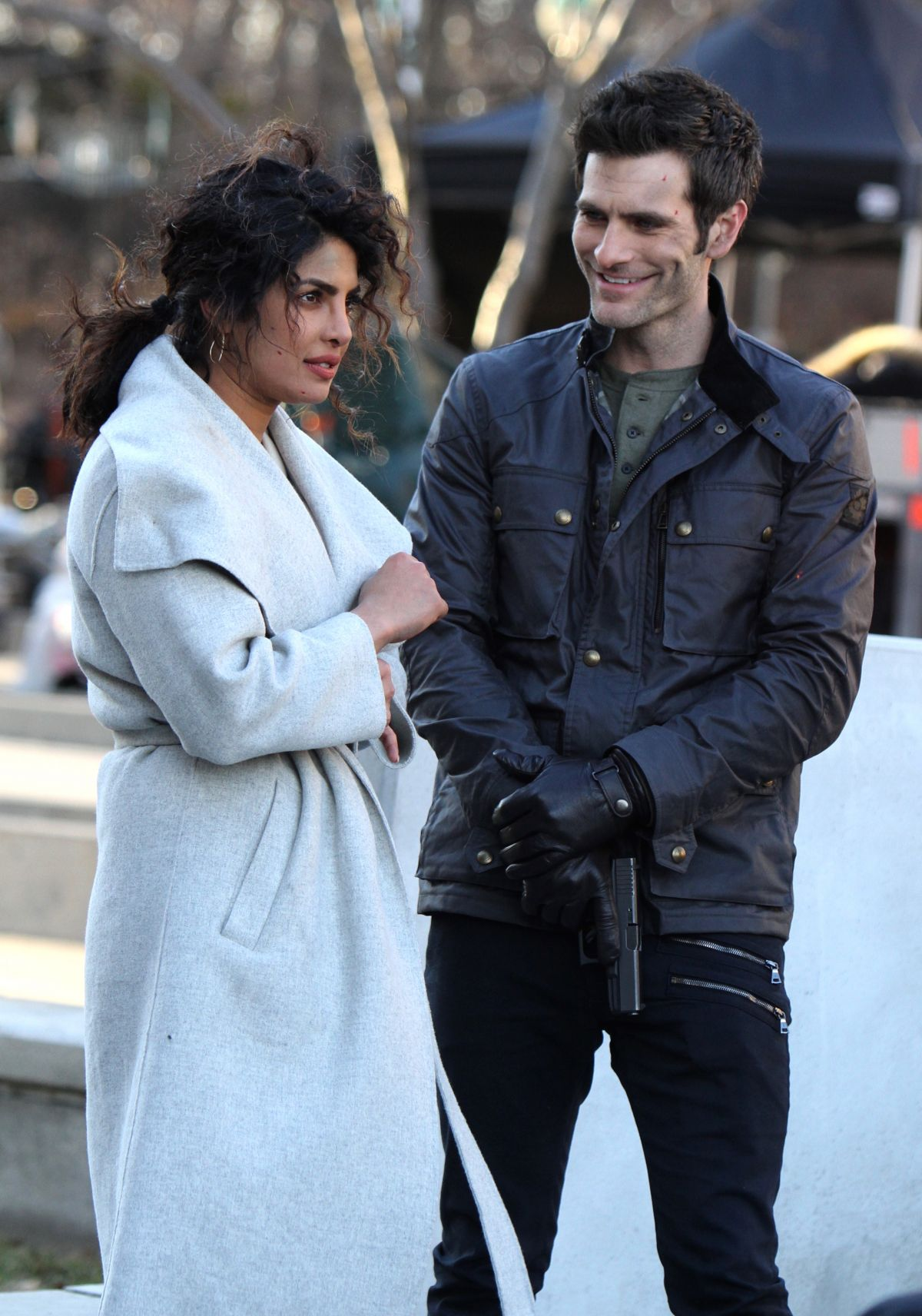 Priyanka Chopra Alan Powell On Set Filming Quantico In Nyc Celebzz Celebzz His birthday, what he did before fame, his family life, fun trivia facts, popularity rankings, and more. celebzz