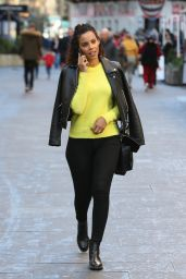 Rochelle Humes At Global Radio Studios in London