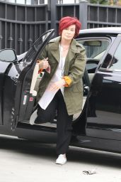 Sharon Osbourne Out for a stroll with her son Jack and his wife in Los Angeles