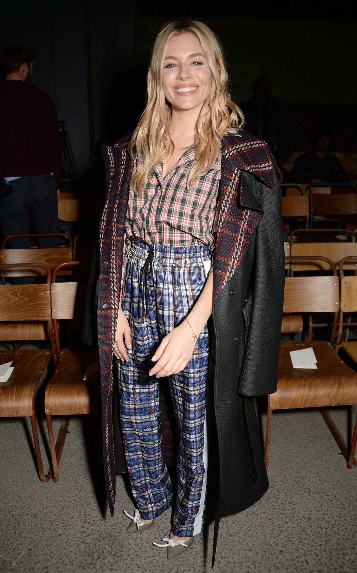 Sienna Miller At Burberry Show Front Row London Fashion