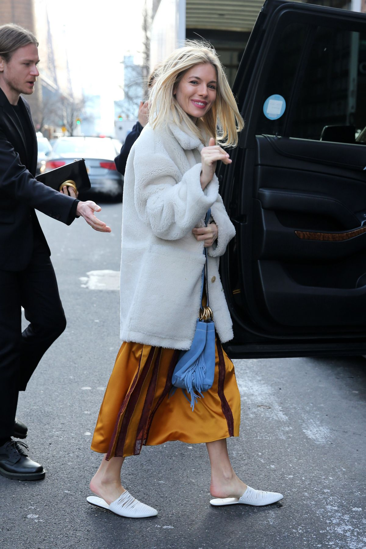 0ceda19f498b Sienna Miller At Tory Burch Fall Winter 2018-19 Show during New York Fashion