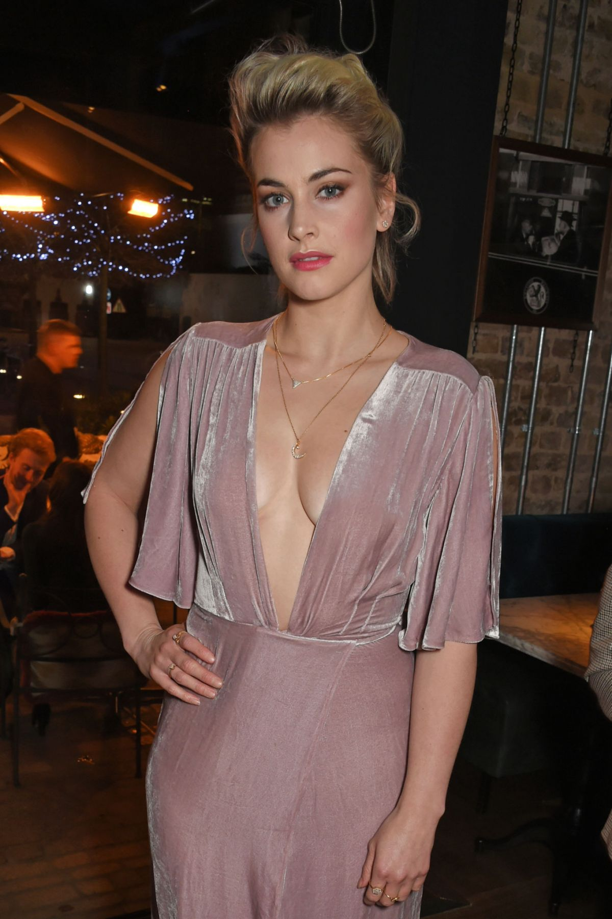 Stefanie Martini attends the InStyle EE Rising Star Party