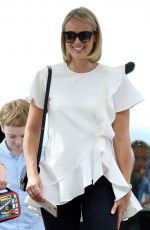Sylvia Jeffreys Goes for a romantic lunch at Catalina restaurant amidst pregnancy rumours in Rose Bay, Sydney