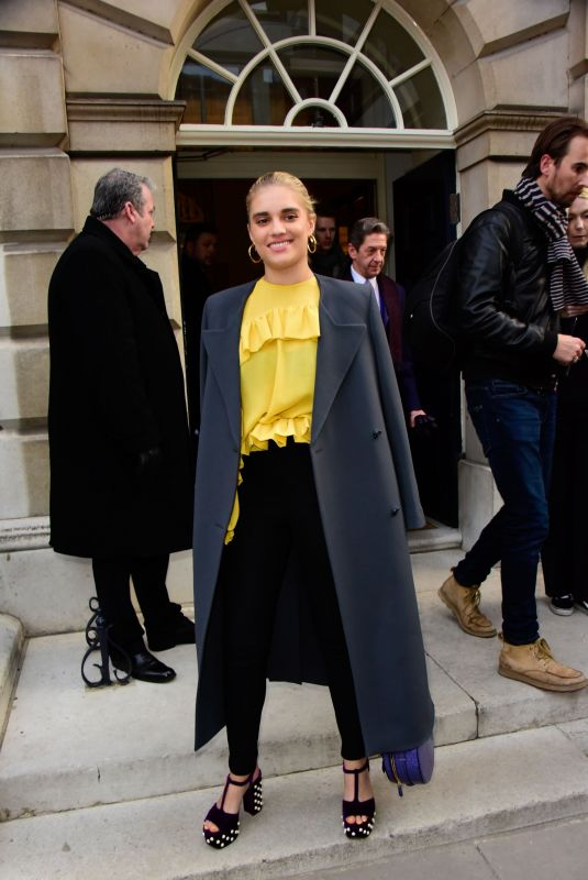 Tigerlily Taylor At Mulberry show, Arrivals, Spring Summer 2018, London Fashion Week, UK