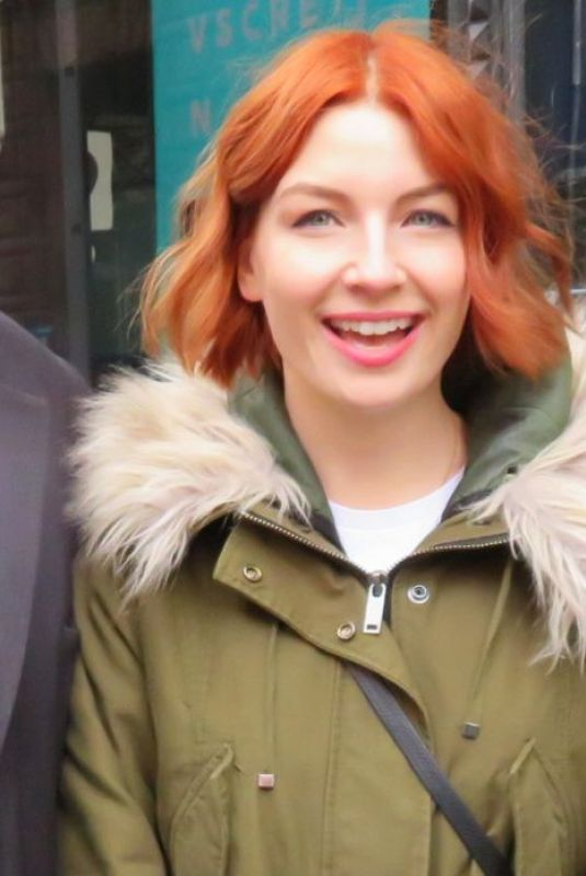 Alice Levine Seen at the BUILD Series studios in New York City
