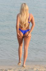 Amber Turner In Bikini on Beach in Dubai