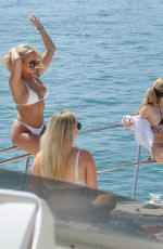Amber Turner In Bikini on Yacht in Dubai