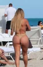 Anastasia Kvitko In a thong swimsuit in Miami