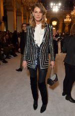 Angela Lindvall At Balmain show, Fall Winter 2018, Paris Fashion Week, France