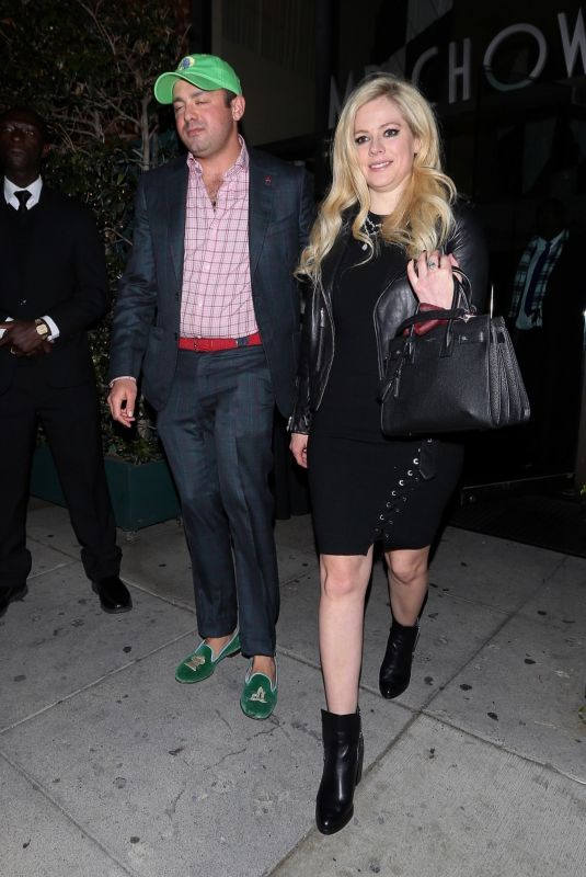 Avril Lavigne Grabs Mr Chow ahead of the weekend, Beverly Hills