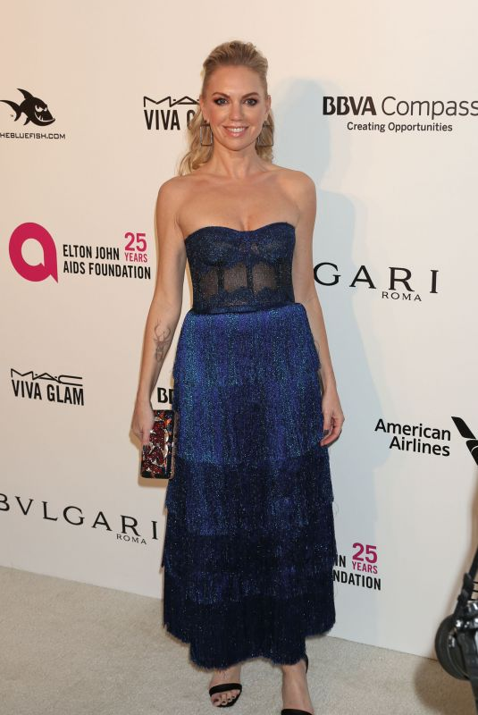 Barret Swatek At Elton John AIDS Foundation Academy Awards Viewing Party, Los Angeles