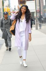 Camila Alves Arriving at the Hearst Magazines office for a meeting in New York City