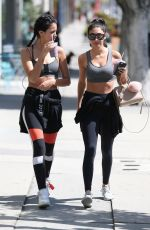 Chantel Jeffries and Cindy Kimberly are seen grabbing a fresh juice after hitting the gym in West Hollywood