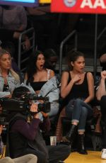 Chantel Jeffries & Jocelyn Chen Out at the Lakers game at Staples Center in Los Angeles