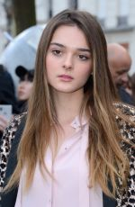 Charlotte Lawrence At Valentino show, Fall Winter 2018, Paris Fashion Week, France