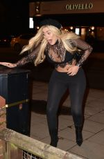 Chloe Ferry Seen leaving the Olivello restaurant in Middlesbrough