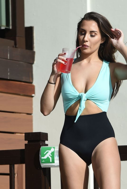 Chloe Goodman Is seen on holiday in Cyprus
