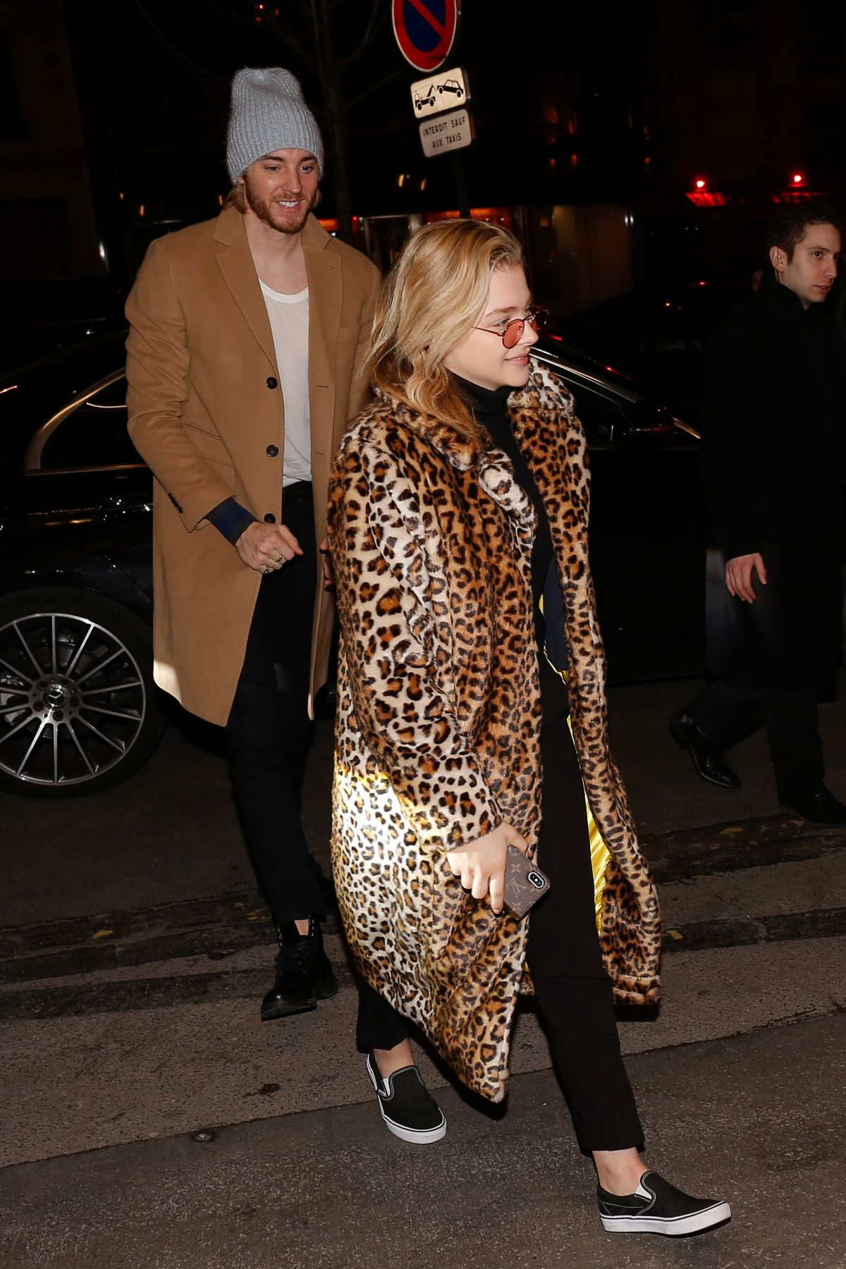 a0beb76db95 Chloe Grace Moretz Arrives at her hotel with her brother Trevor Duke in  Paris