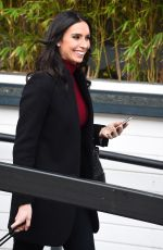 Christine Lampard Spotted At The ITV Studios in London