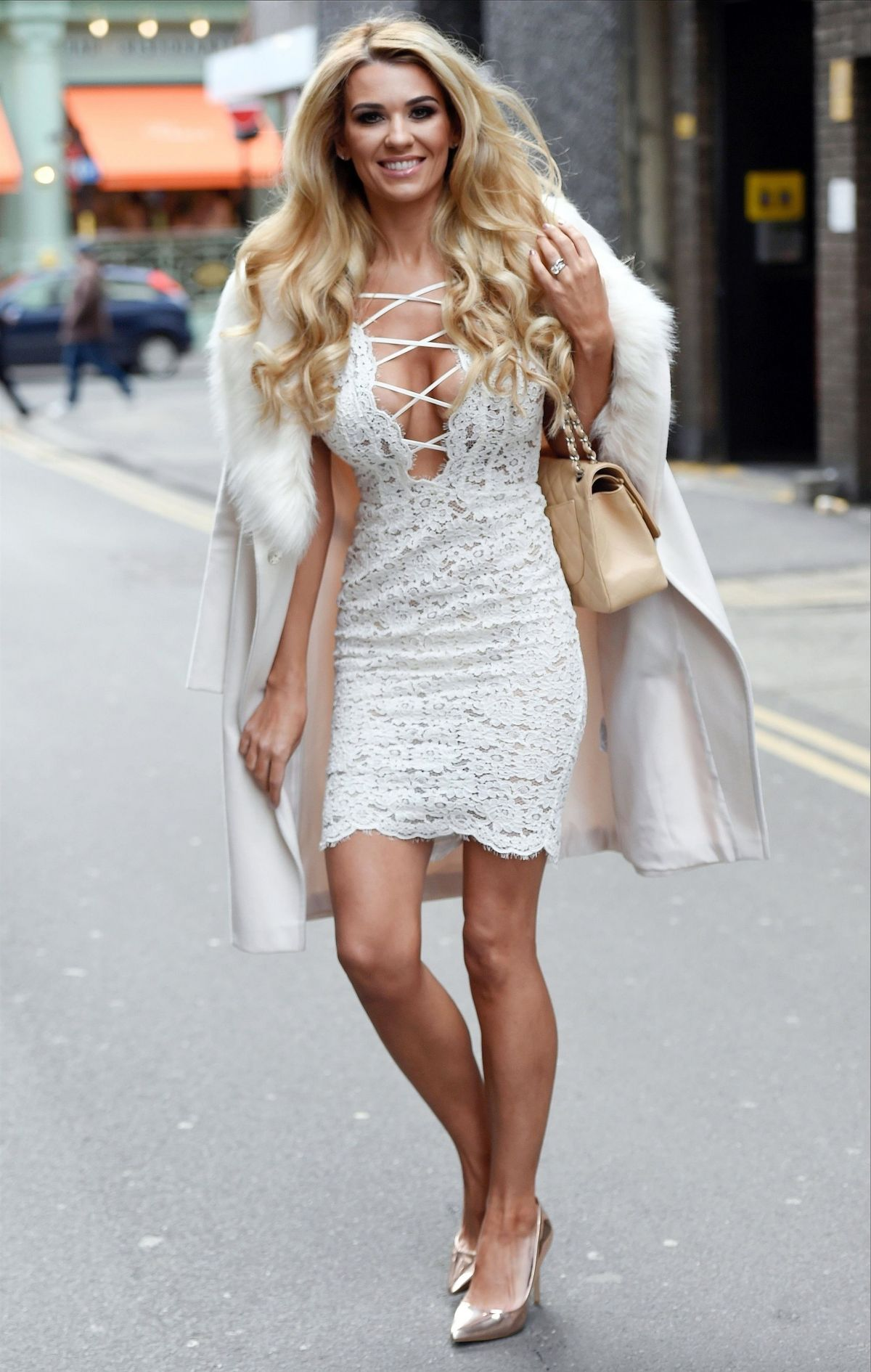 Christine Mcguinness Pictured Looking Stunning White