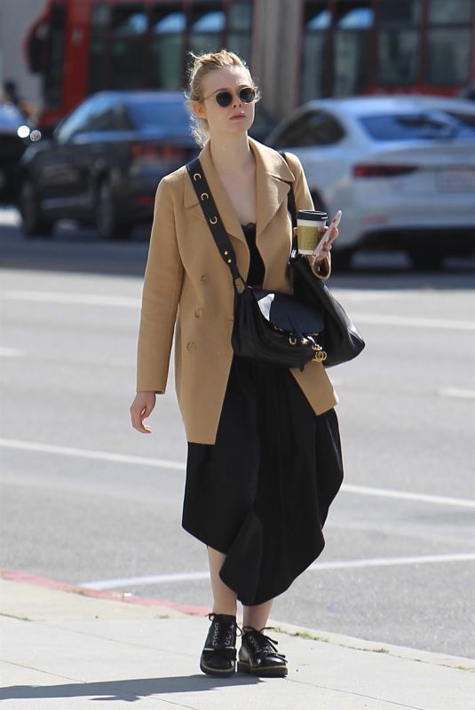 Elle Fanning Out in Beverly Hills