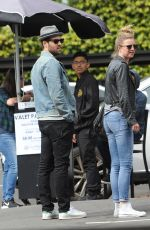 Emily VanCamp & Josh Bowman Leaving Little Dom