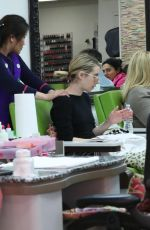 Emma Roberts At Beverly Hills Nail Design in Beverly Hills