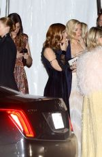 Emma Roberts Chats with a mystery man leaving the Vanity Fair after party in Beverly Hills