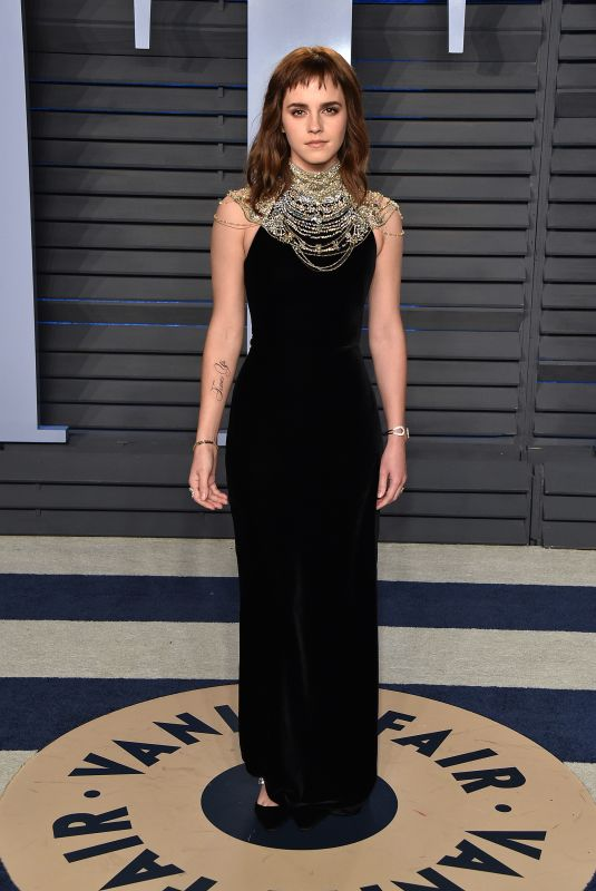 Emma Watson At 2018 Vanity Fair Oscar Party in Beverly Hills