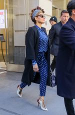 Eva Mendes Leaving an office building in NYC